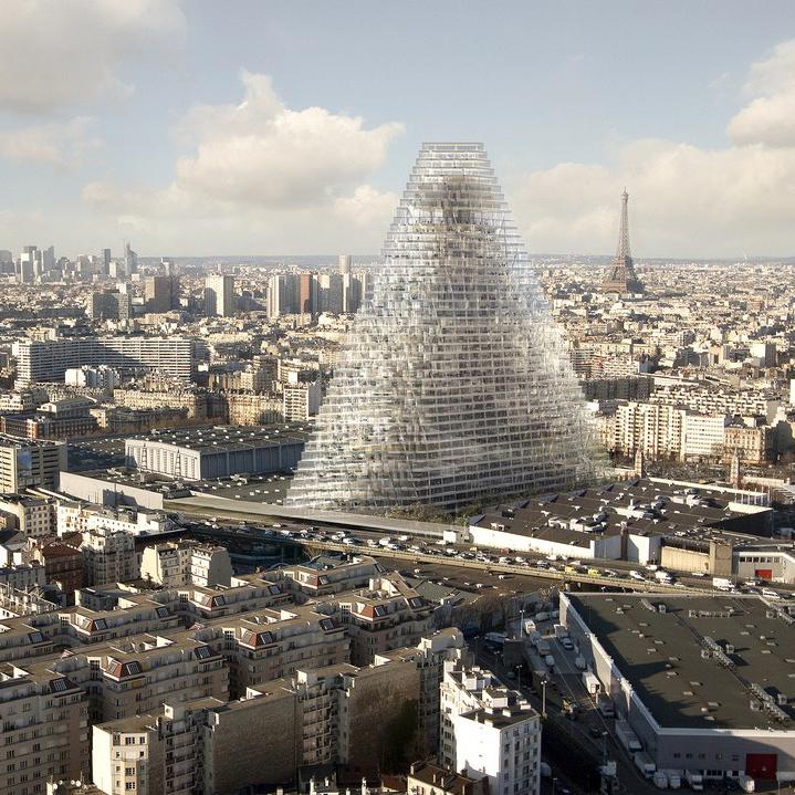 آسمان خراش مثلثی در پاریس